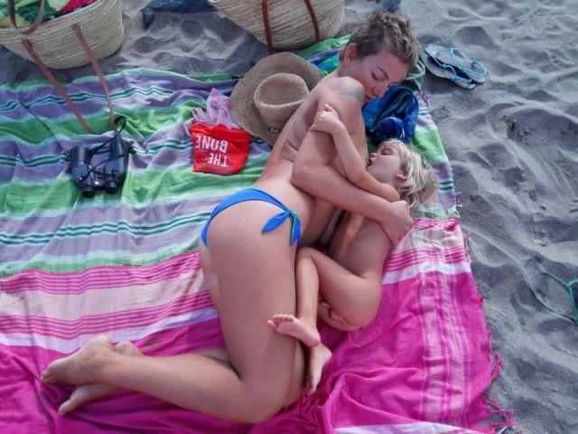 dar pecho en la playa 1